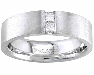 Mens Palladium Wedding Ring Designer Diamonds - click to enlarge