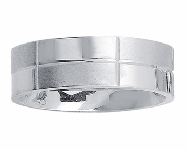 Mens Platinum Band 7mm Comfort Fit PT950 - click to enlarge