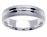 Mens Platinum Ring in 6mm Comfort Fit PT950