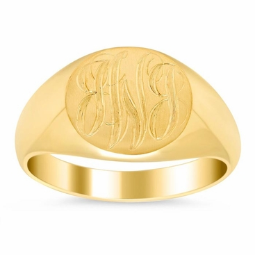 Mens Signet Ring 14k - click to enlarge