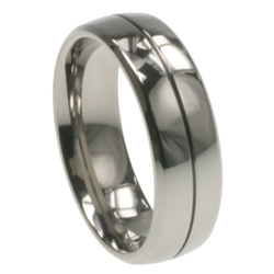 Mens Titanium Wedding Band in 7mm