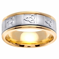 Mens Wedding Ring with Celtic Trinity Knot Design in 8mm