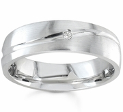 Mens Wedding Ring with One Diamond
