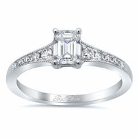 Milgrained Diamond Engagement Ring Setting