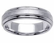 Milgrained Platinum Wedding Ring