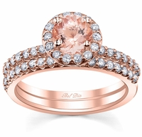 Morganite Rose Gold Bridal Set