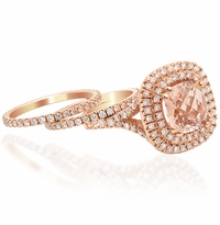 Morganite Rose Gold Engagement Rings