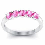 October Birth Stone Ring Pink Sapphires 0.50 cttw