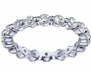 One Carat Diamond Eternity Ring Single Prong