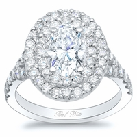Oval Baby Split Double Halo Engagement Ring