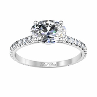 Oval East West Engagement Ring