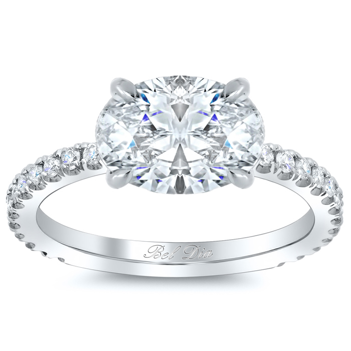 Oval Diamond Settings East West Oval East West Engagement Ring