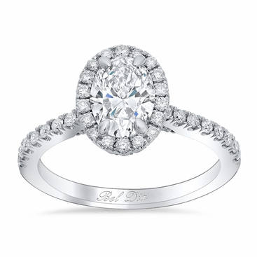 Oval Halo Wedding Ring - click to enlarge