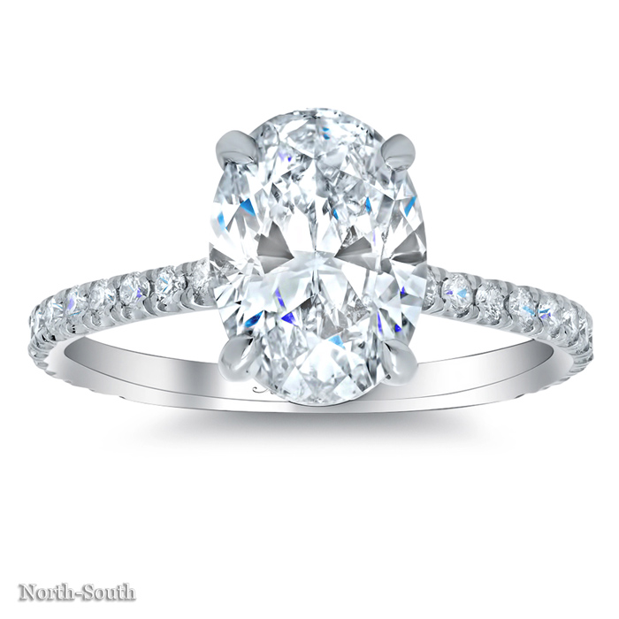 Oval Pave Engagement Ring - click to enlarge