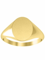 Oval Shaped Yellow Gold Signet Ring