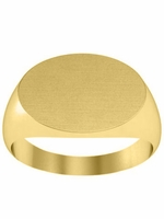 Oval Solid Back Signet Rings For Women
