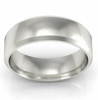 Palladium Wedding Ring 6mm Beveled Edge