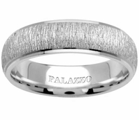 Palladium Wedding Ring Designer Matte & High-Polish