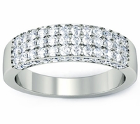 Pave Diamond Wedding Ring