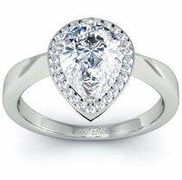 Pear Cut Halo Setting