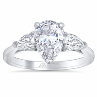 Pear Three Stone Engagement Ring