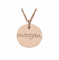 Personalized Gold Disc Necklace