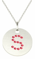 Personalized Letter Ruby Pendant Necklace