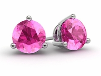 Pink Sapphire Gold Earrings