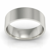 Plain Flat Wedding Band