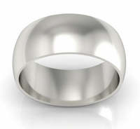 Plain Wedding Band in 14kt Gold 9mm
