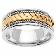 Platinum & 18kt Handmade Wedding Ring in 8.5mm Comfort Fit