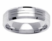 Platinum Band for Men or Women in 6mm Comfort Fit PT950