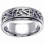 Platinum Celtic Wedding Ring Spiral Triskelion Design
