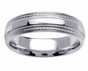 Platinum Ring for Men or Women in 6mm Comfort Fit PT950