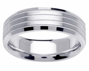 Platinum Ring for Men or Women in 7mm Comfort Fit PT950