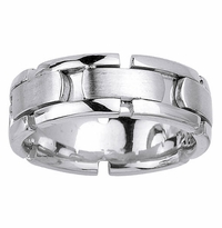 Platinum Wedding Band 8mm Comfort Fit Handmade