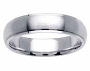 Platinum Wedding Band in 5.5mm Comfort Fit Mens or Ladies Fancy Wedding Ring