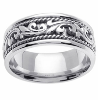 Platinum Wedding Band in 9mm Handmade Wedding Ring