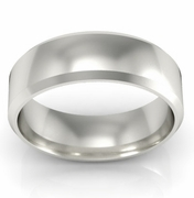 Platinum Wedding Ring Beveled 6mm