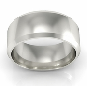 Platinum Wedding Ring Beveled 8mm