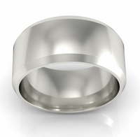 Platinum Wedding Ring Beveled 9mm