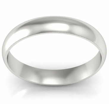 Platinum Wedding Ring Domed 4mm - click to enlarge