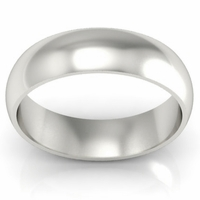 Platinum Wedding Ring Domed 6mm