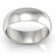 Platinum Wedding Ring Domed 7mm