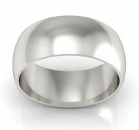 Platinum Wedding Ring Domed 9mm