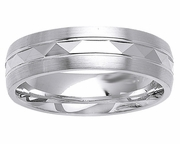 Platinum Wedding Ring in 6 mm Comfort Fit PT950