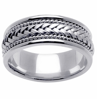 Platinum Wedding Ring in 8mm Comfort Fit Mens or Ladies Wedding Band