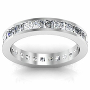 Princess Channel Set Diamond Eternity Ring 2.25 cttw