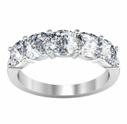 Cushion Cut Diamond Anniversary Band