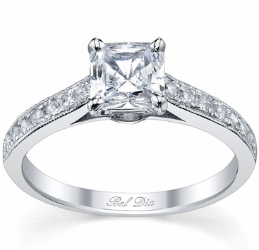 Princess Cut Engagement Ring - click to enlarge